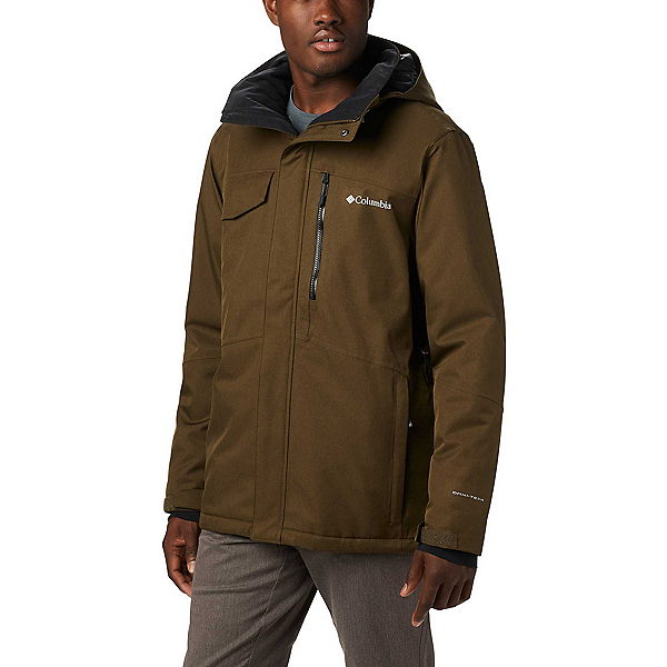 Columbia Cushman Crest Mens Insulated Ski Jacket, Olive Green Heather, 600