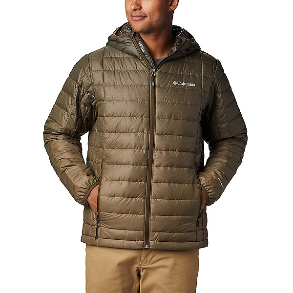 Columbia VooDoo Falls 590 TurboDown Hooded - Tall Mens Jacket, Olive Green Topo Fade, 600
