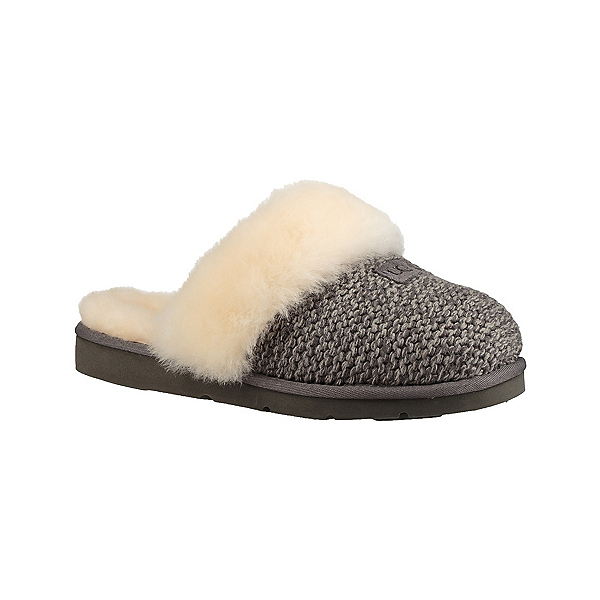 UGG Cozy Knit Womens Slippers, Charcoal, 600