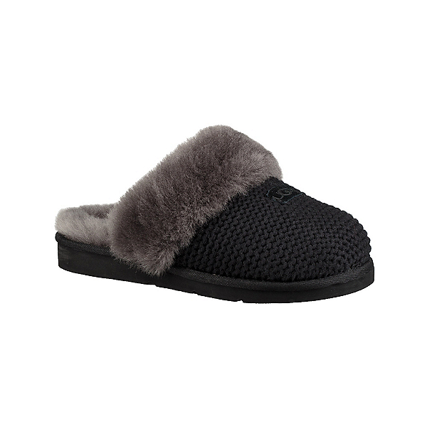 UGG Cozy Knit Womens Slippers, Black, 600