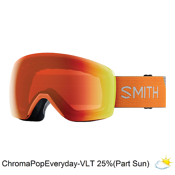 Smith Skyline Goggles, Halo-Chromapop Everyday Red Mi, 600
