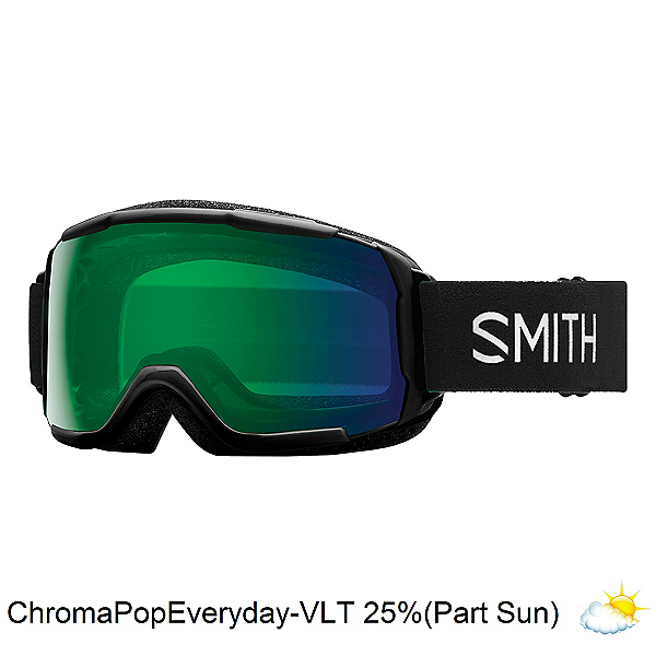 Smith Grom Kids Goggles 2022, Black-Chromapop Everyday Green, 600