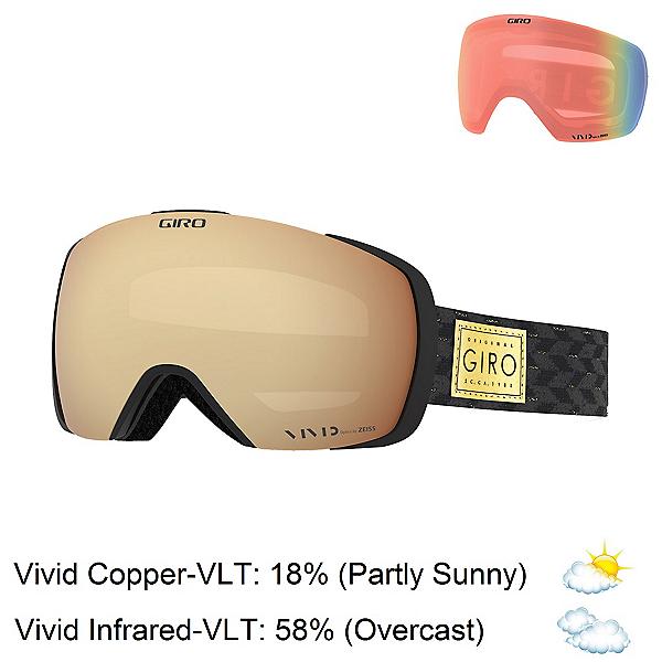 Giro Contact Goggles, Black-Gold Shimmer-Vivid Coppe + Bonus Lens, 600
