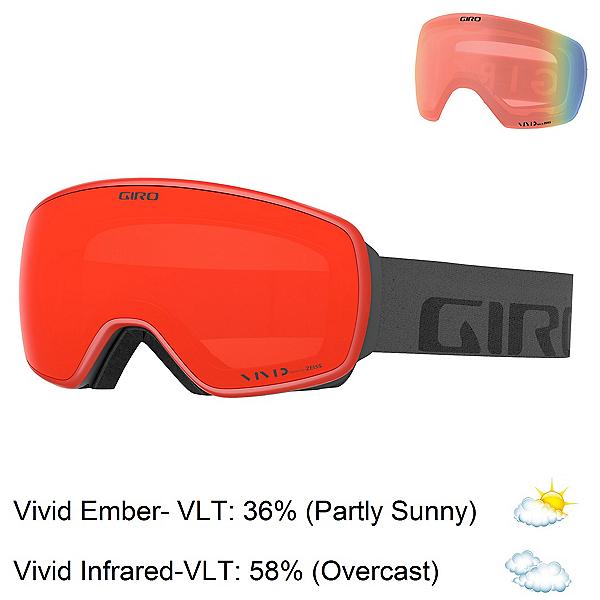 Giro Agent Goggles 2020, Grey Wordmark-Vivid Ember + Bonus Lens, 600