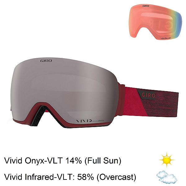 Giro Article Goggles 2020, Red Peak-Vivid Onyx + Bonus Lens, 600