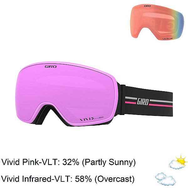 Giro Eave Womens Goggles 2020, Gp Pink-Vivid Pink + Bonus Lens, 600