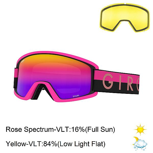 Giro Dylan Womens Goggles 2020, Black Pink Throwback-Rose Spec + Bonus Lens, 600