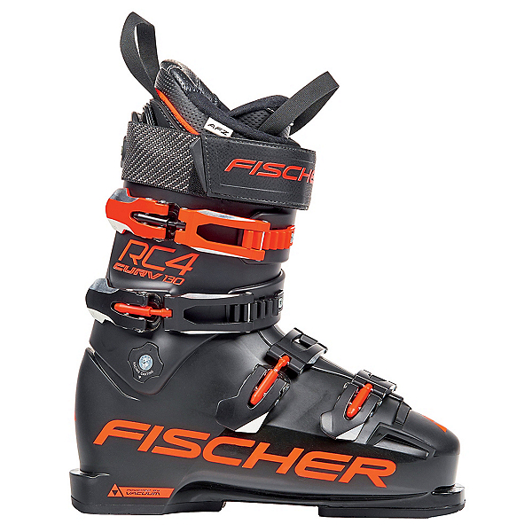 Fischer RC4 Curv 130 Ski Boots, Black-Orange, 600