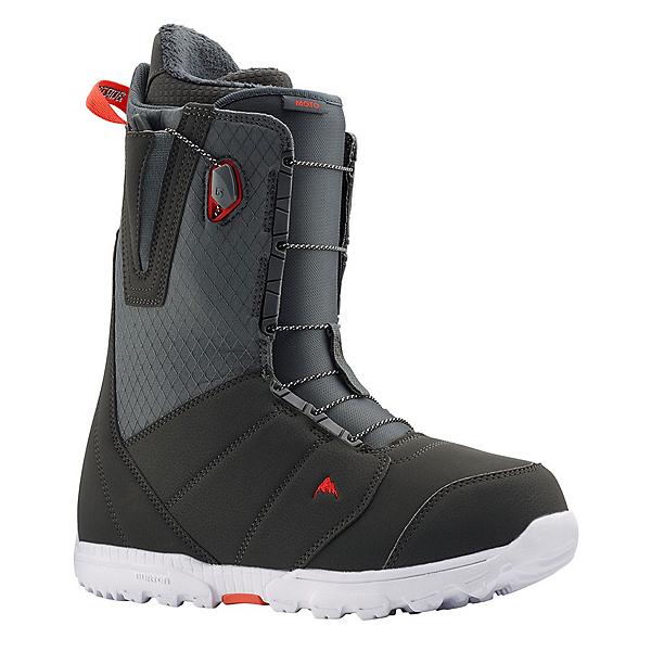 Burton Moto Snowboard Boots, Gray-Red, 600