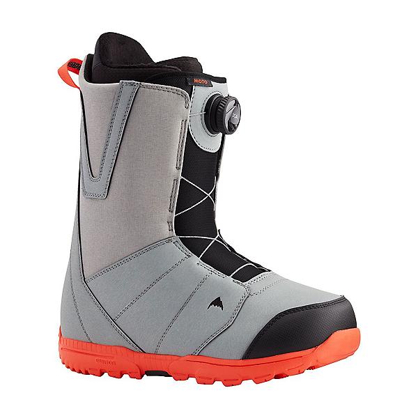 Burton Moto Boa Snowboard Boots, Gray-Red, 600