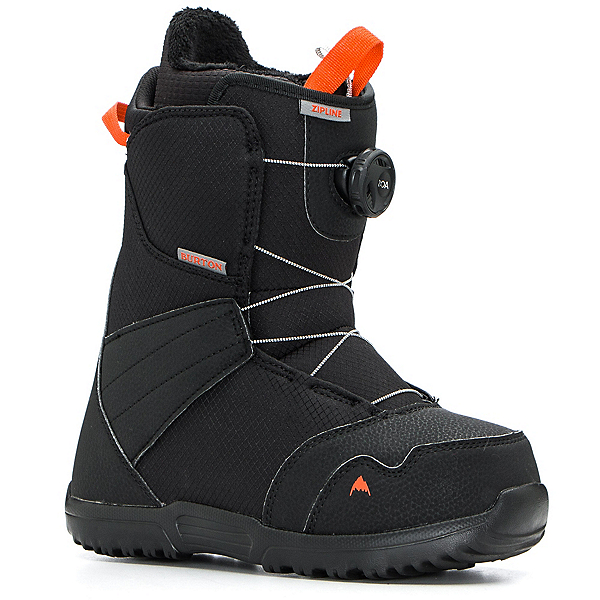 Burton Zipline Boa Kids Snowboard Boots, Black, 600