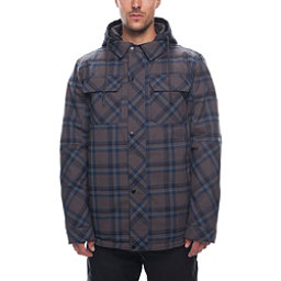 686 Woodland Mens Insulated Snowboard Jacket Charcoal Yarn Dye Plaid 256
