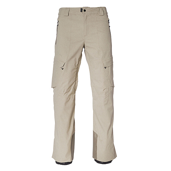 686 GLCR Quantum Thermagraph Mens Snowboard Pants, Khaki Melange, 600