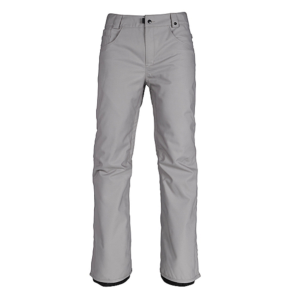 686 Raw Insulated Mens Snowboard Pants, Grey Denim, 600