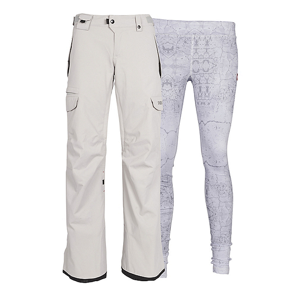 686 Smarty 3-in-1 Cargo Womens Snowboard Pants, Grey, 600