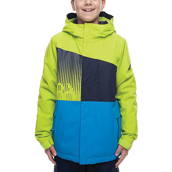 686 Knockout Boys Snowboard Jacket 2019, Lime Colorblock, 600