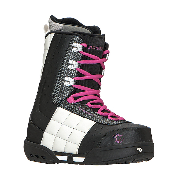 Northwave Topaz Womens Snowboard Boots, Black White Fucsia, 600