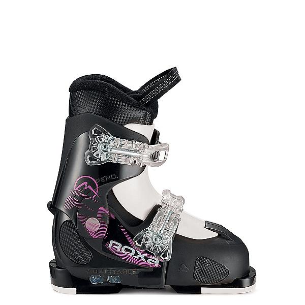 ROXA Chameleon Girls Ski Boots, Black-Black-White, 600