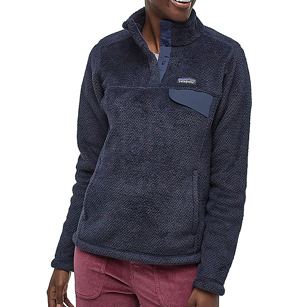 Patagonia Re-Tool Snap-T Fleece Womens Mid Layer, New Navy-Dark Neo Navy X Dye, 600