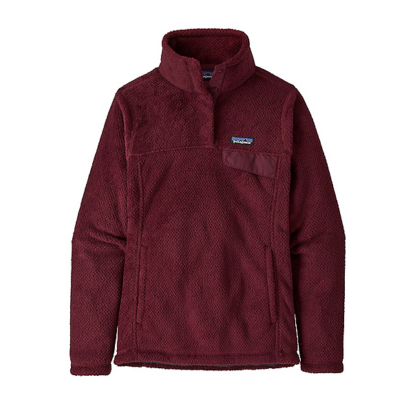 Patagonia Re-Tool Snap-T Fleece Womens Mid Layer 2022, Chicory Red-Roamer Red X, 600