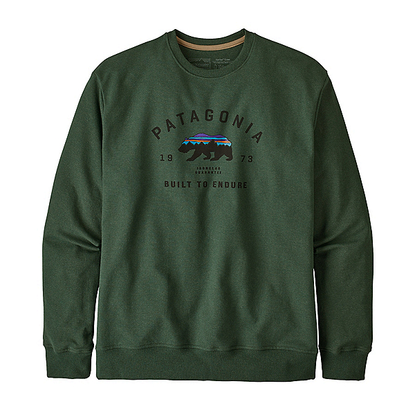 Patagonia Arched Fitz Roy Bear Crew Mens Sweatshirt, Alder Green, 600