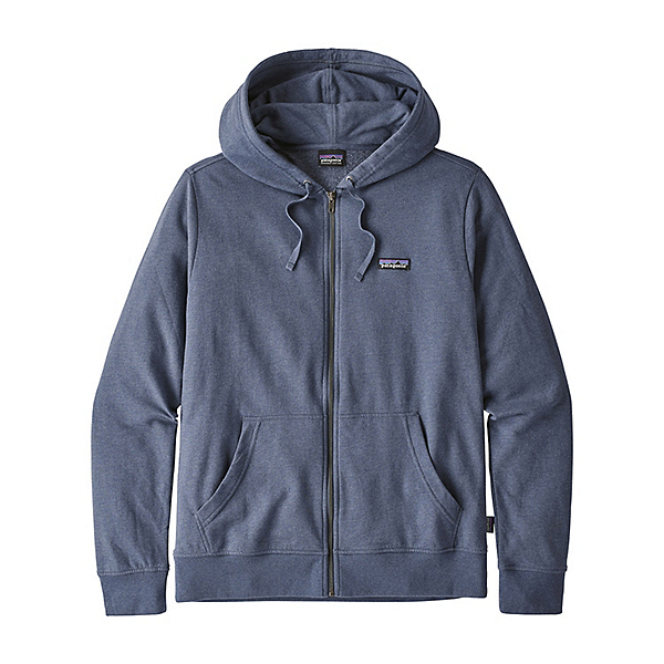 Patagonia P-6 Label Lightweight Full-Zip Mens Hoody, Dolomite Blue, 600