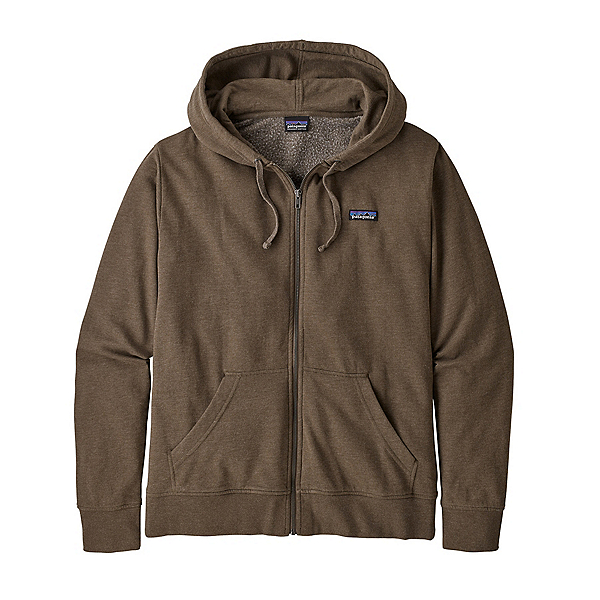 Patagonia P-6 Label Lightweight Full-Zip Mens Hoody, Bristle Brown, 600
