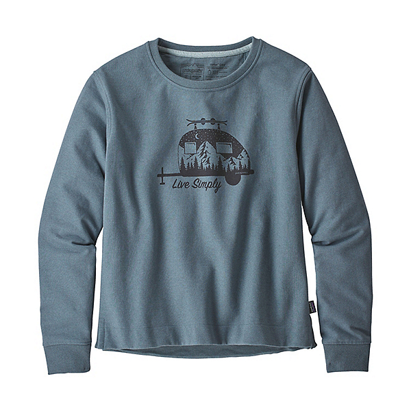 Patagonia Live Simply Trailer Womens Sweatshirt 2019, Shadow Blue, 600