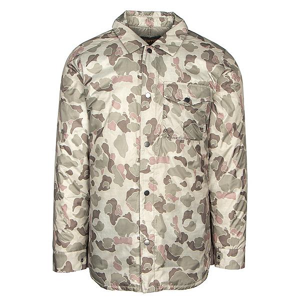 Burton Wayland Down Shirt Mens Jacket 2019, Pastel Desert Duck, 600