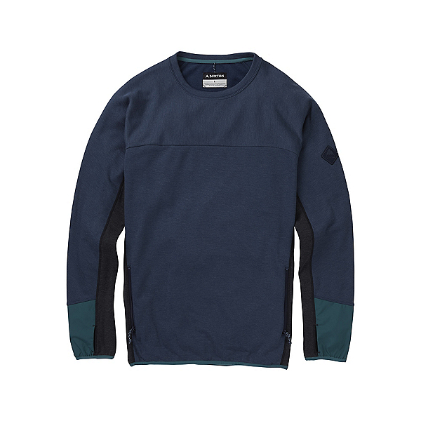 Burton Minturn Crew Mens Sweatshirt, Mood Indigo Heather, 600