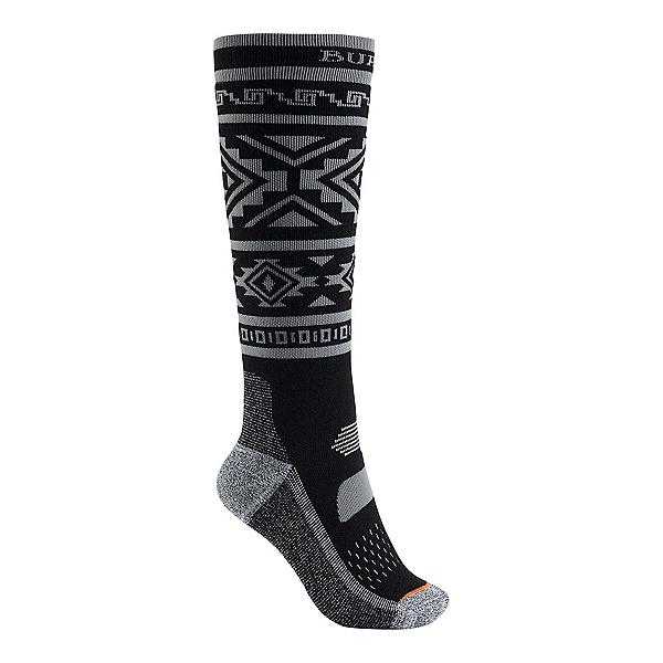 Burton Performance Midweight Womens Snowboard Socks, True Black, 600