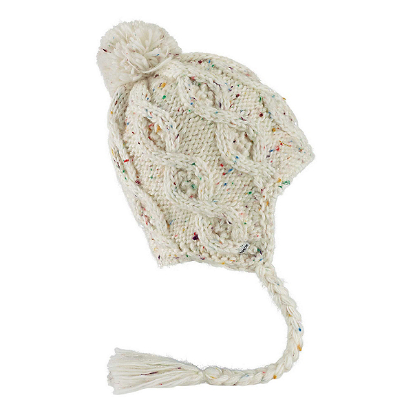 Burton Chloe Earflap Beanie Womens Hat, Stout White, 600