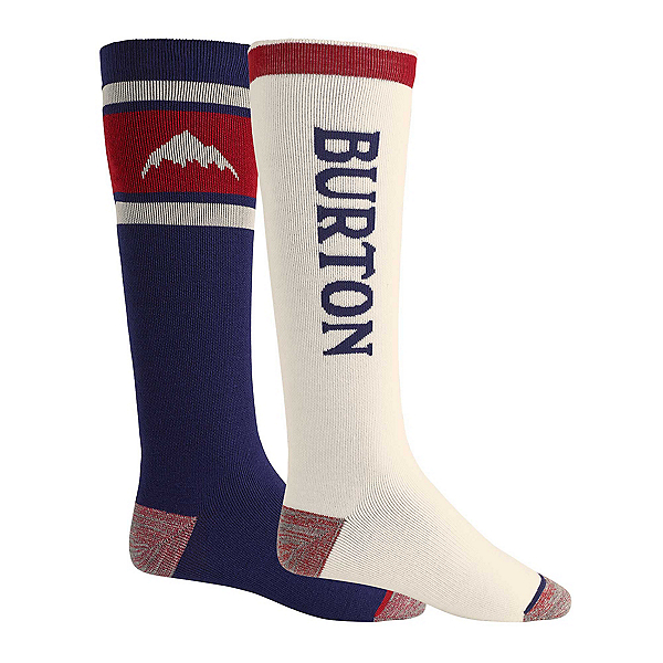 Burton Weekend 2 Pack Snowboard Socks, Mood Indigo, 600