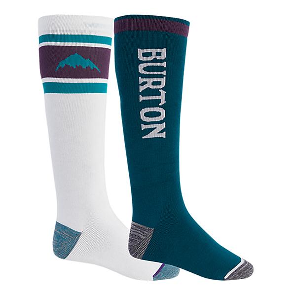 Burton Weekend 2 Pack Snowboard Socks, Stout White-Dynasty, 600