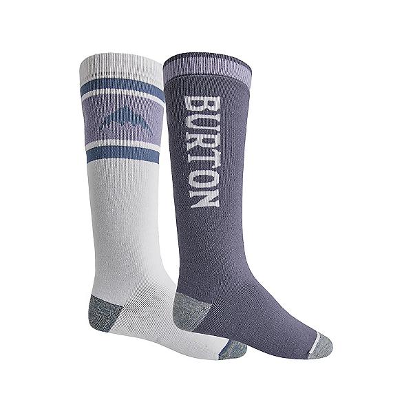 Burton Weekend 2 Pack Snowboard Socks, Stout White-Folkstone Gray, 600