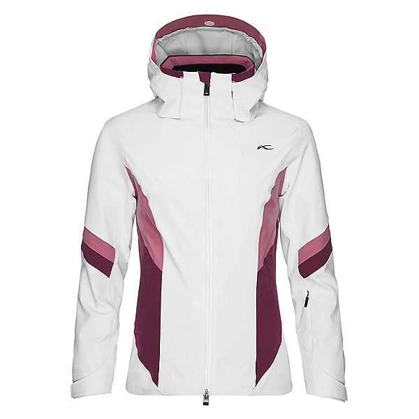 KJUS Laina Womens Insulated Ski Jacket, White-Potent Purple, 600