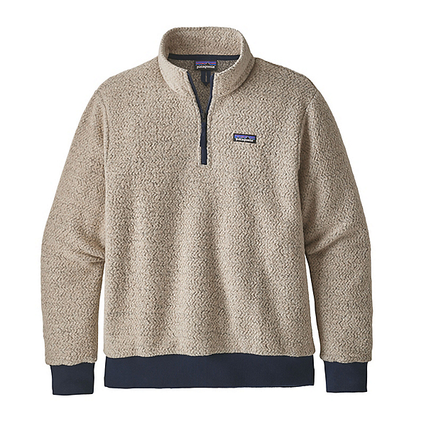 Patagonia Woolyester Fleece Pullover Mens Jacket, Oatmeal Heather, 600