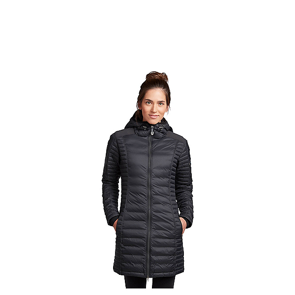 KUHL Spyfire Down Parka Womens Jacket, Blackout, 600