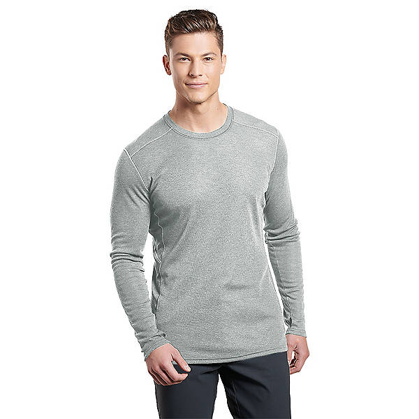 KUHL Akkomplice Krew Mens Long Underwear Top 2020, Ash, 600