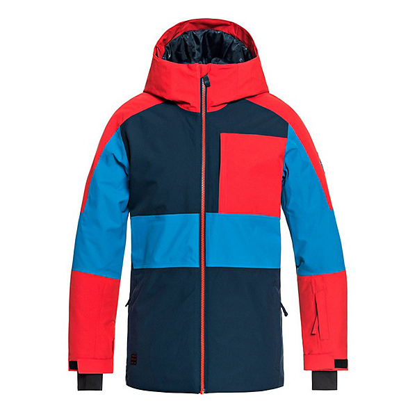 Quiksilver Sycamore Boys Snowboard Jacket, Dress Blues, 600