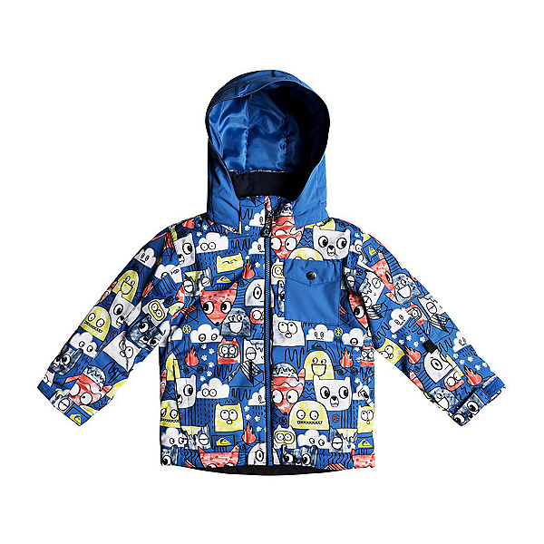 Quiksilver Little Mission Toddler Ski Jacket, Daphne Blue Animal Party, 600