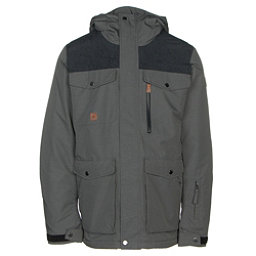 Quiksilver Raft Mens Insulated Snowboard Jacket Grey Heather 256