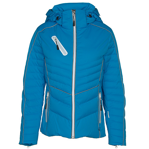 NILS Nathalie Womens Insulated Ski Jacket, Azure, 600