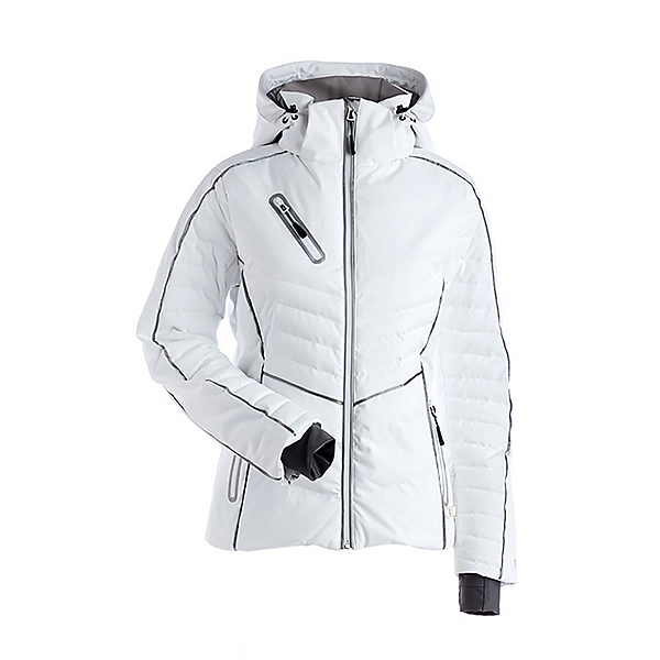 NILS Nathalie Womens Insulated Ski Jacket, White, 600