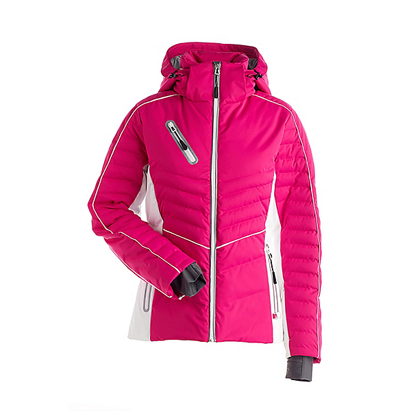 NILS Natti Womens Insulated Ski Jacket, Hot Pink-White, 600