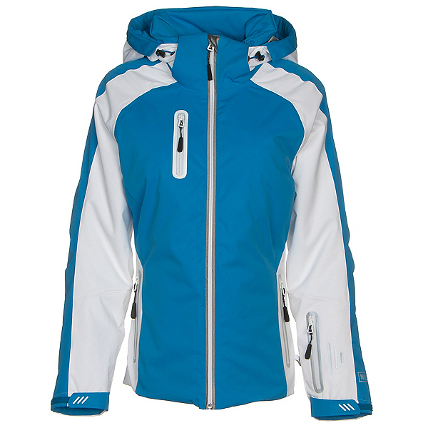 NILS Nikki Womens Insulated Ski Jacket 2019, Azure-White, 600