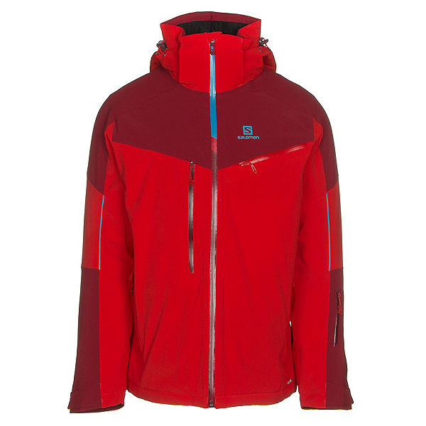 Salomon Icespeed Mens Insulated Ski Jacket, Fiery Red-Biking Red, 600