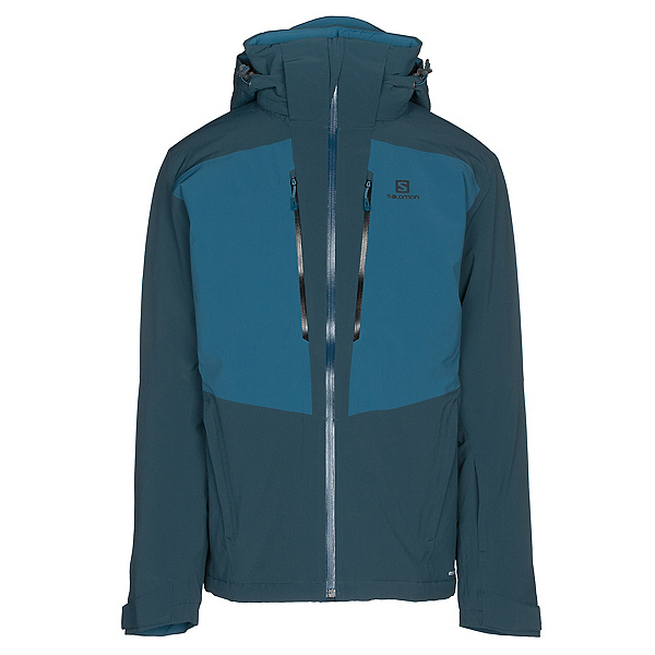 Salomon Icefrost Mens Insulated Ski Jacket, Reflecting Pond-Moroccan Blue, 600