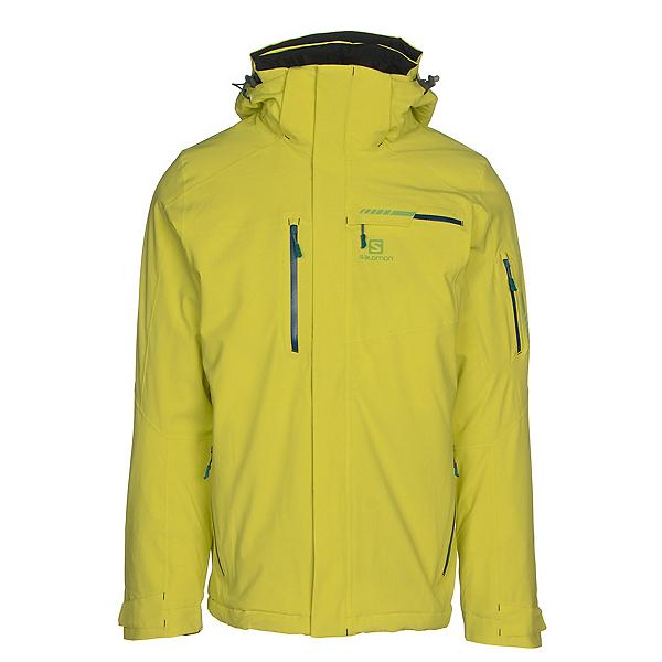 Salomon Brilliant Mens Insulated Ski Jacket, Sulphur Spring, 600