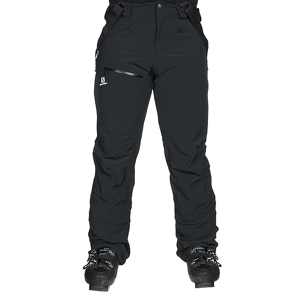 Salomon Chill Out Bib Mens Ski Pants, Black, 600